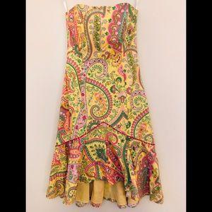 Shoshanna  Paisley Strapless Dress